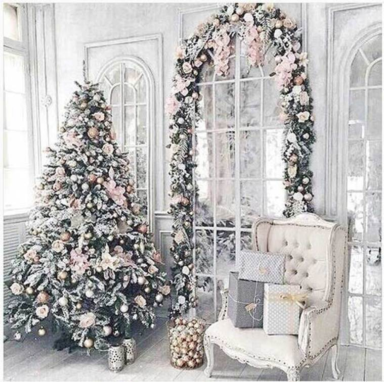 Pink Country Floral Christmas Tree