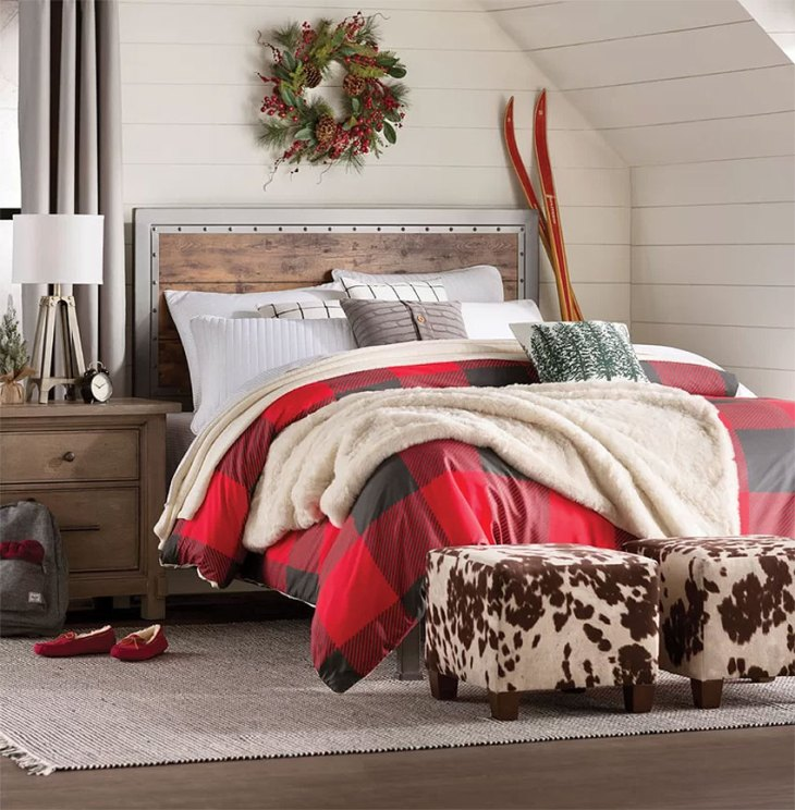 Rustic Red Plaid Bedroom