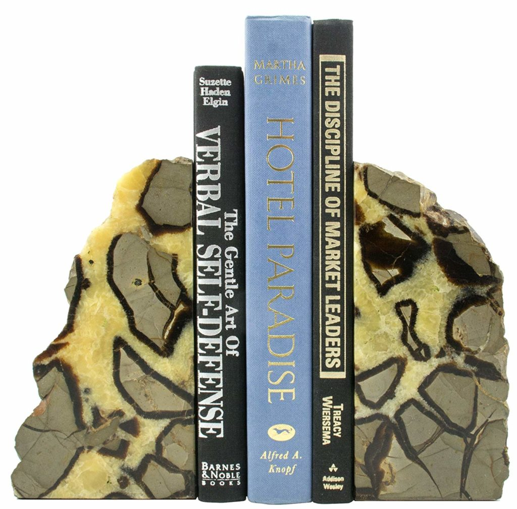 Septarian Stone Bookends