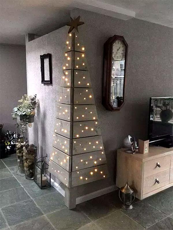 Wall Mounted Corner Christmas Tree