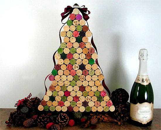Wine Cork Christmas Tree Alternative