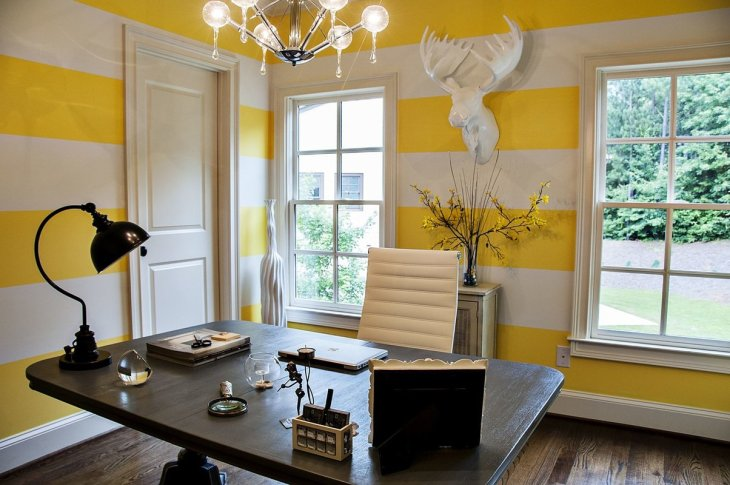 Yellow Home Office Design