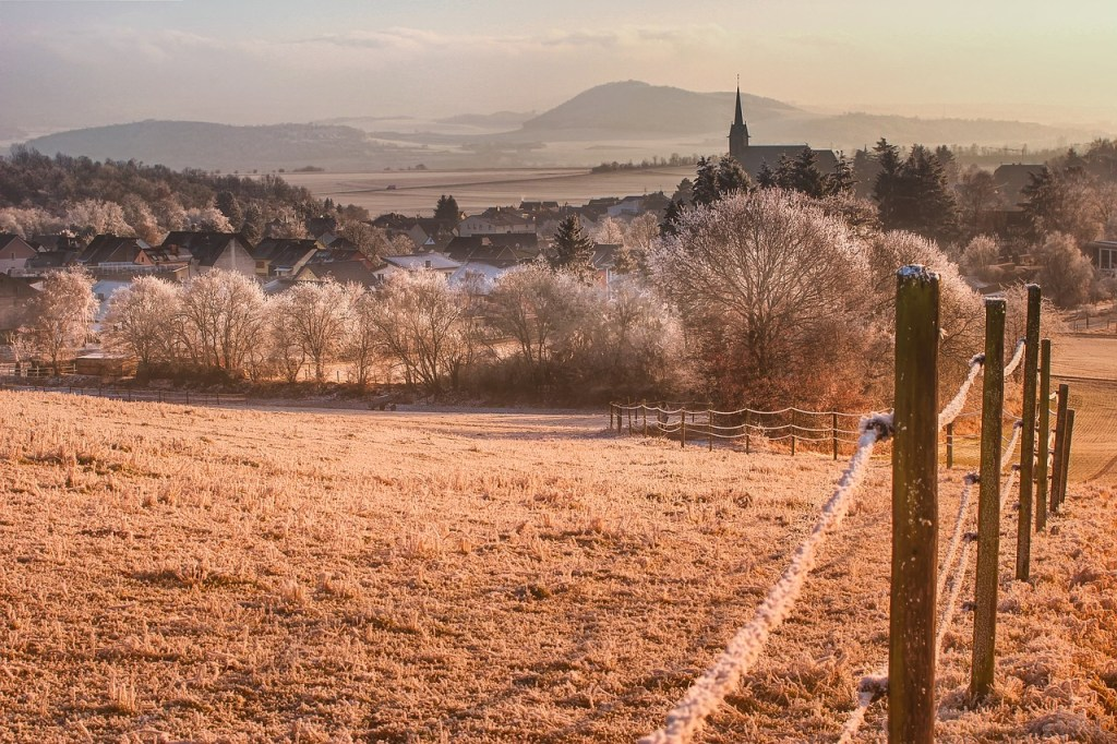 Hoarfrost Landscape at Dawn