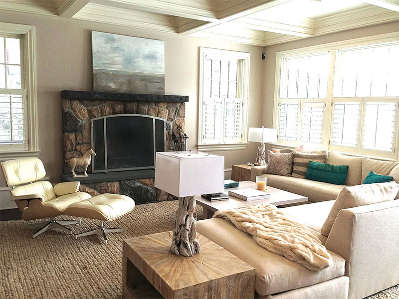 Living Room Layout with Side Tables