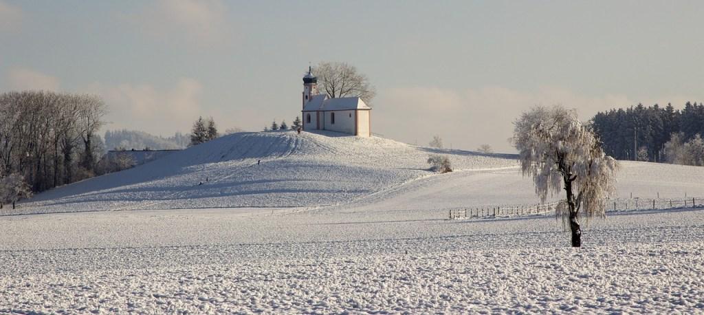 Winter Chapel Winter Scene