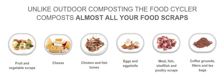 The FoodCycler Indoor Compost Machine can handle most food scraps.