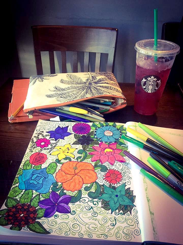 How Starbucks Makes Me Feel Inside - Sharpie Art by Kemly-Verde