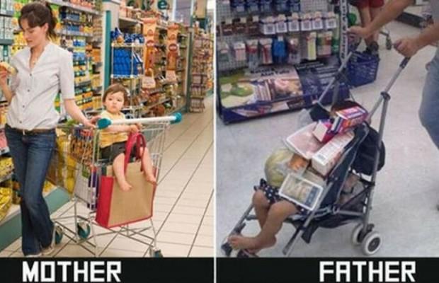 Grocery Shopping Meme |  Mom vs Dad Shopping