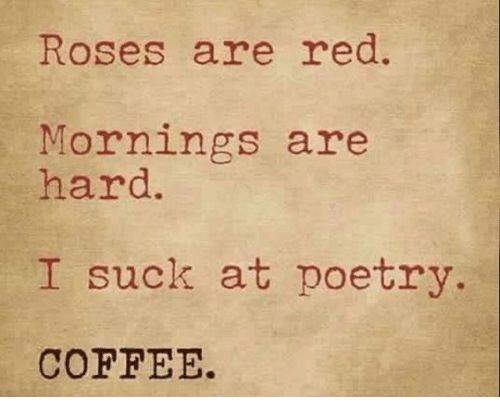 Memes About Mornings | Roses are red. Mornings are hard. I suck at poetry. Coffee.
