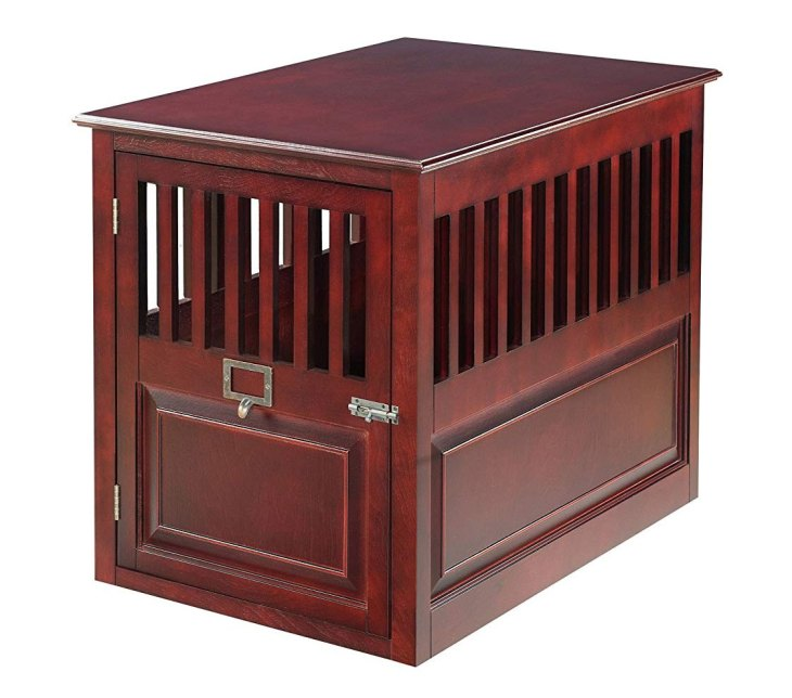 Barrister Style Attractive Mahogany Dog Crate