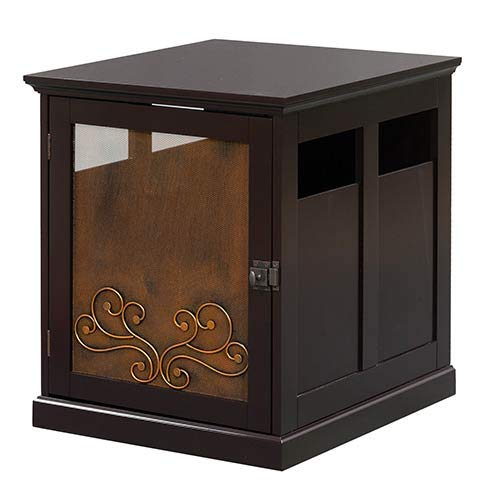 Elegant Home Fashions Metal Scroll Puppy Crate