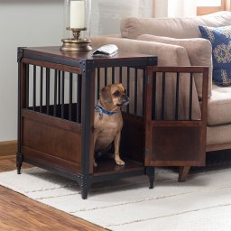 Industrial Style Dog Crate End Table