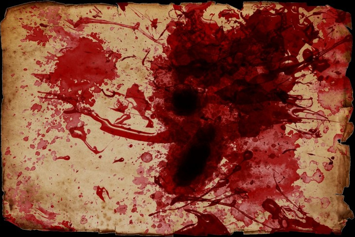 Blood Splattered Scroll | Free Printable Halloween Art