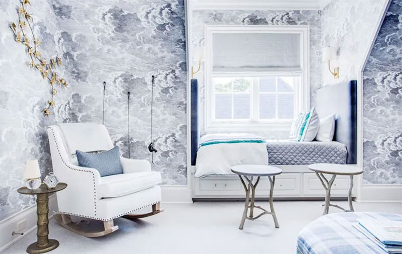 Boys French Country Blue Bedroom Design