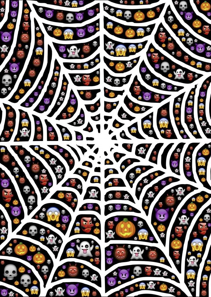 Halloween Emoji Spider | Printable Halloween Art
