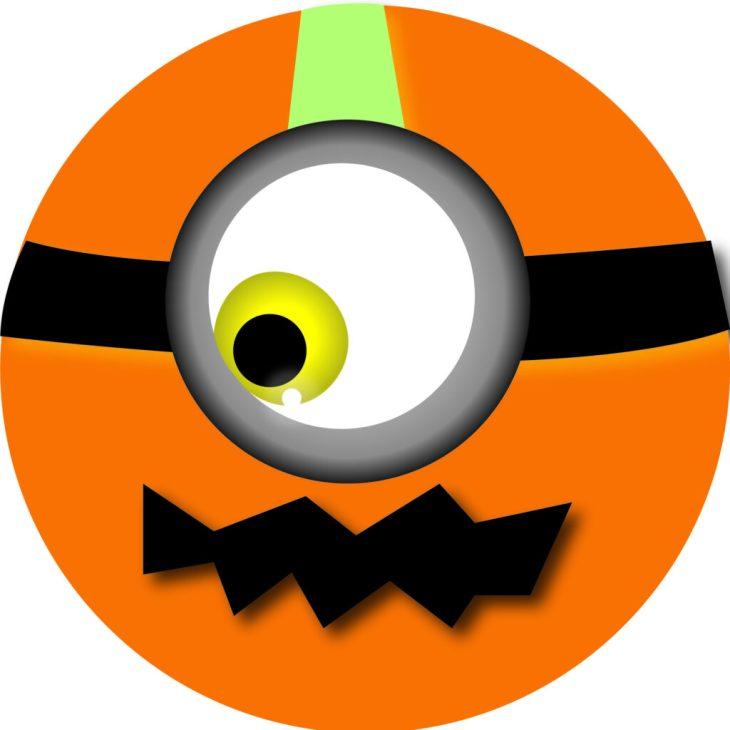 Halloween Minion Orange Emoji | Halloween Clip Art