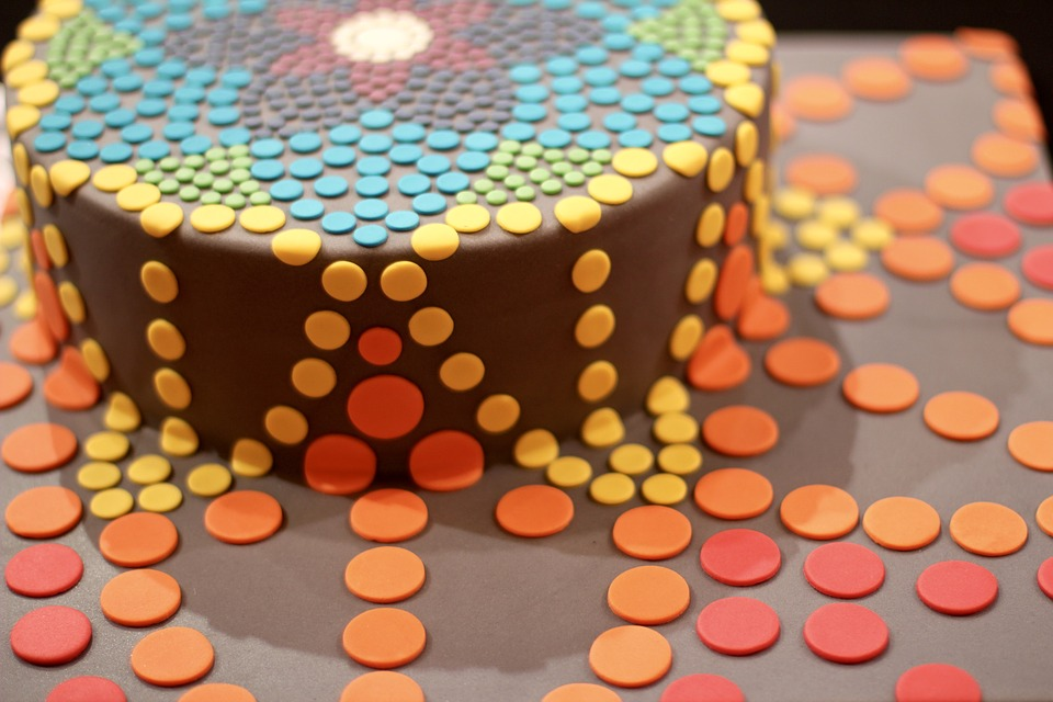 Overflowing Birthday Cake