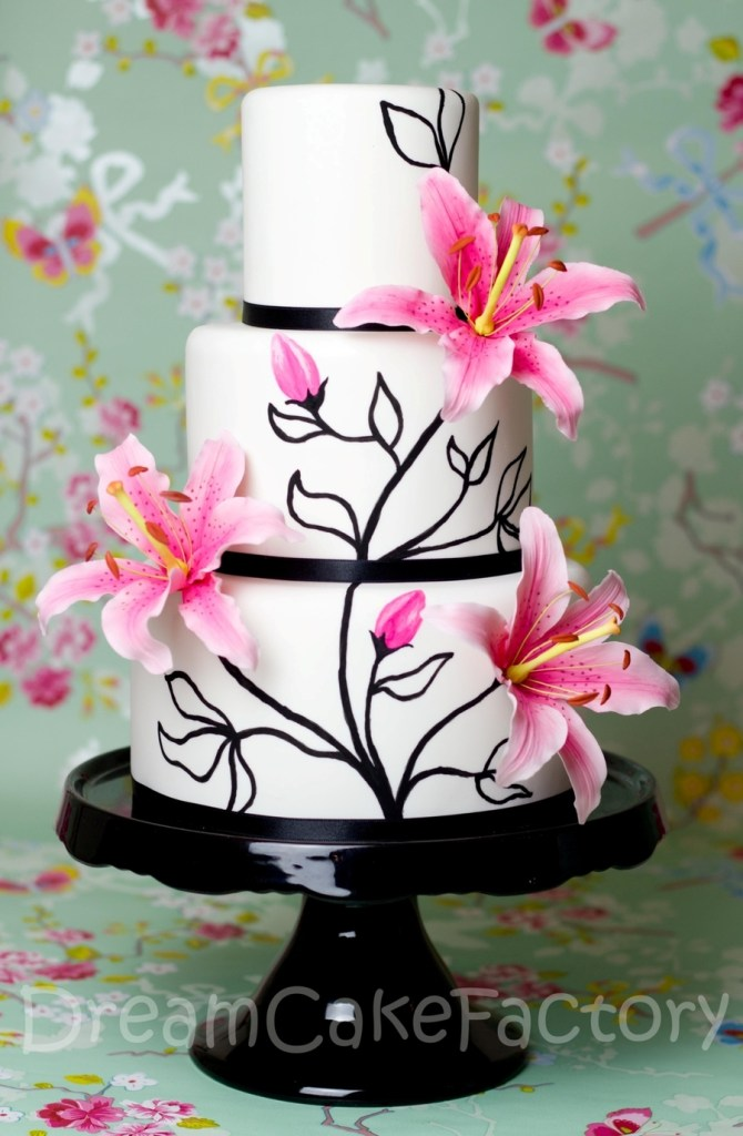 Pink Easter Lilies Cake