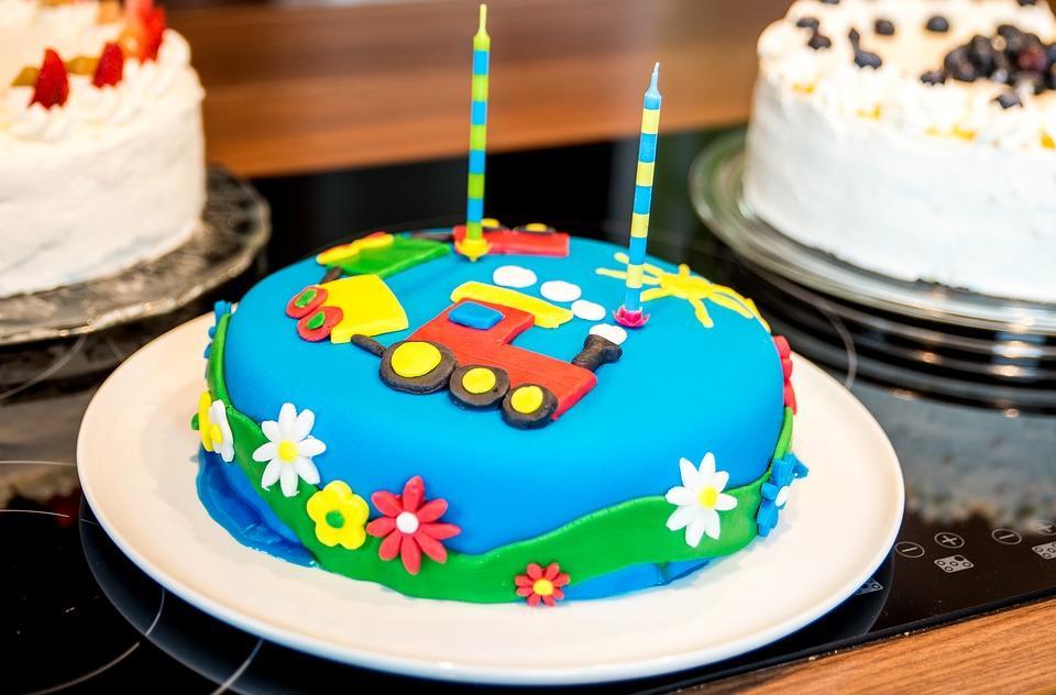 Train Set Kids Birthday Cake