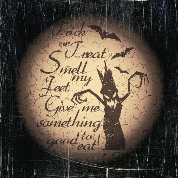 Trick or Treat Saying Spooky Halloween Printable Image