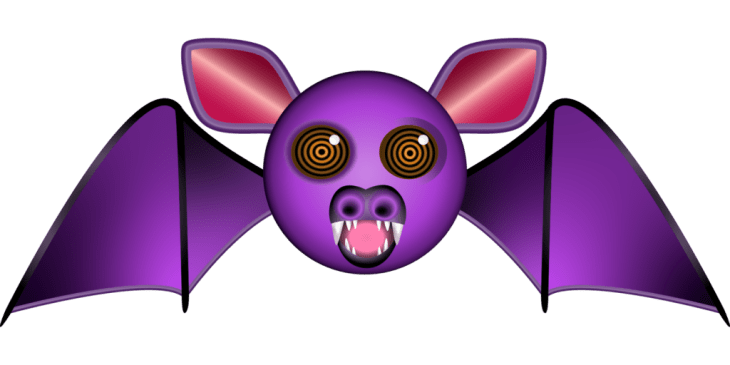 Vampire Bat Halloween Emoji
