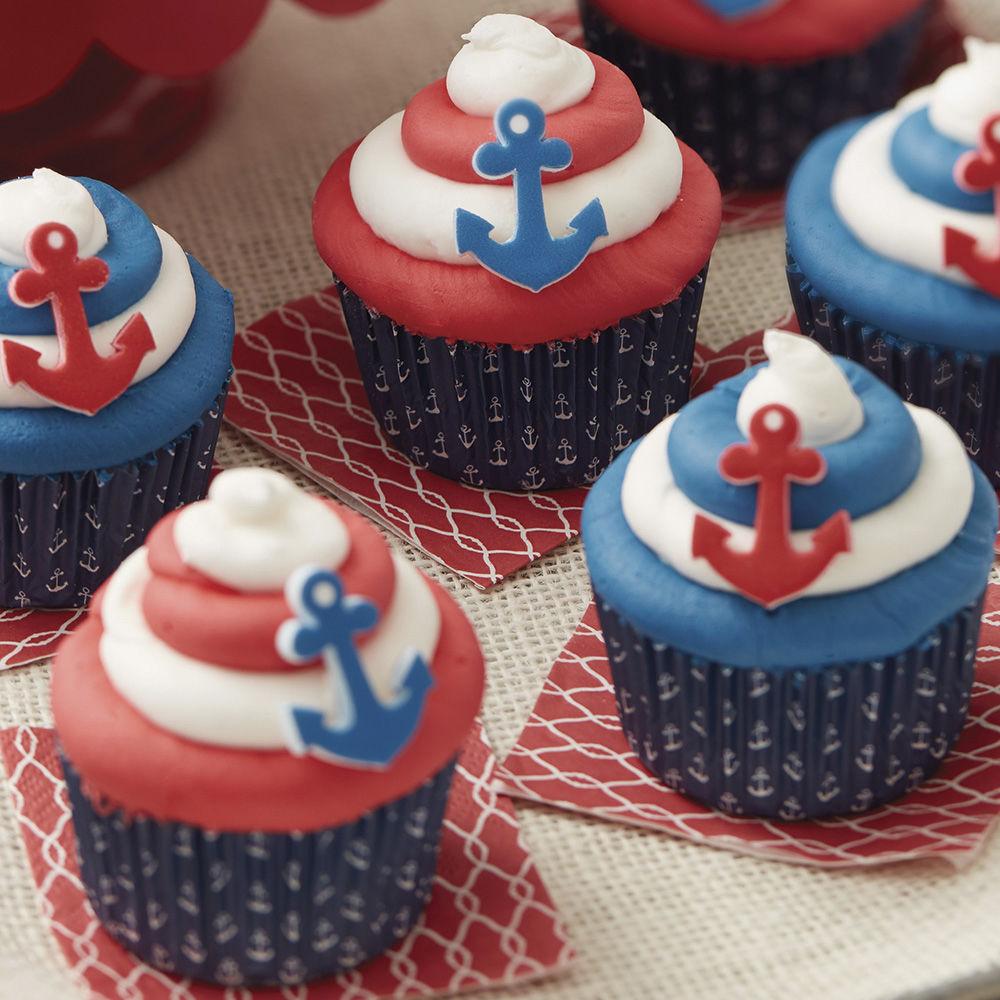By the Seaside Patriotic Cupcakes