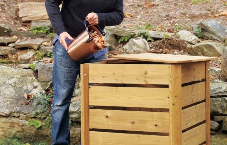 Basic Cedar DIY Compost Bin