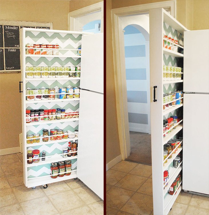 DIY Canned Food Pull-Out Organizer