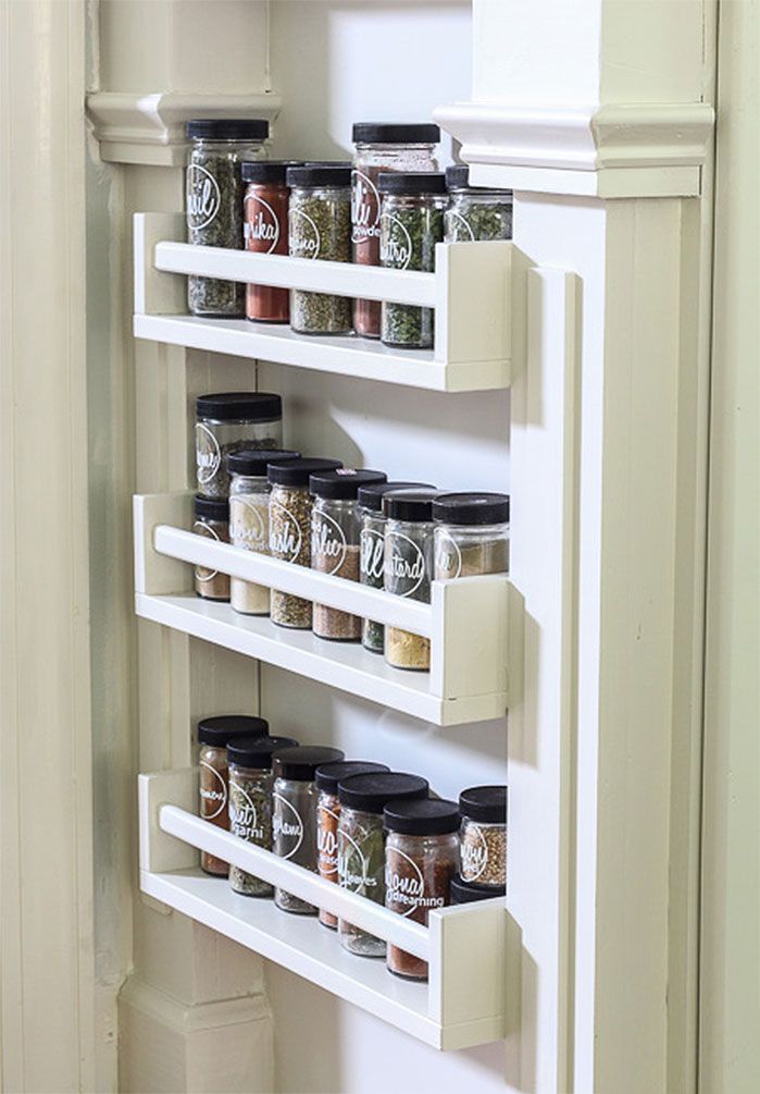 DIY End-of-Counter Spice Rack