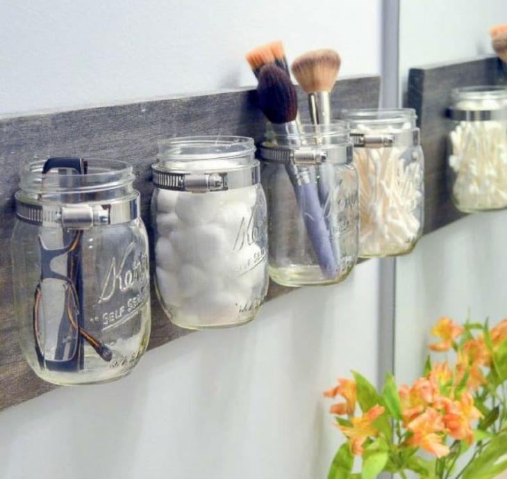 DIY Mason Jar Organizer