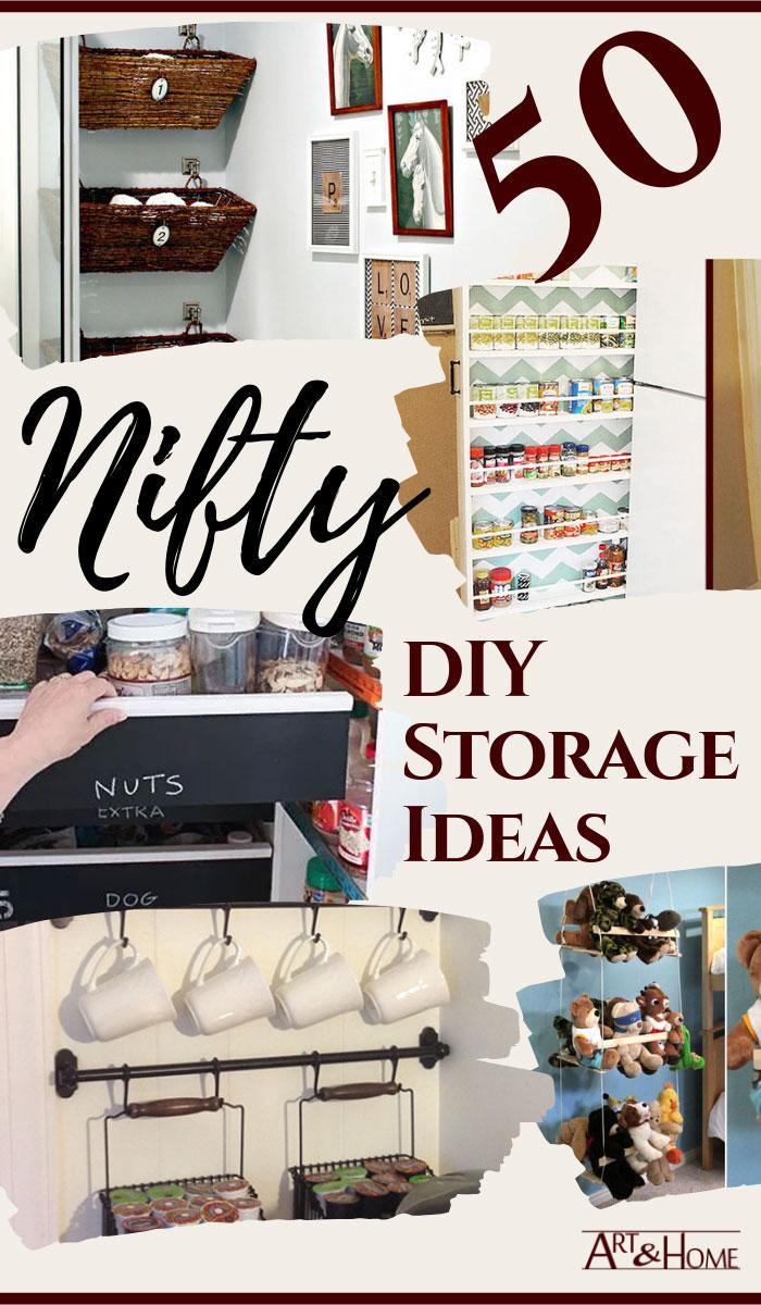 50 Nifty DIY Storage Ideas
