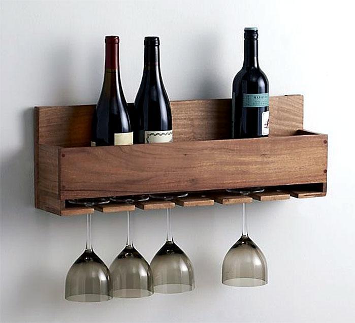 DIY Wine Bottle and Wine Glass Holder