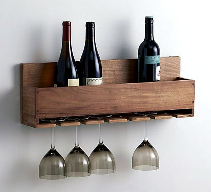 DIY Wine Bottle and Wine Glass Holder