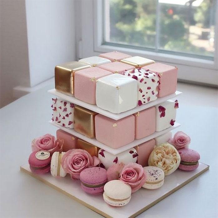 Stacked Boxes Birthday Cake