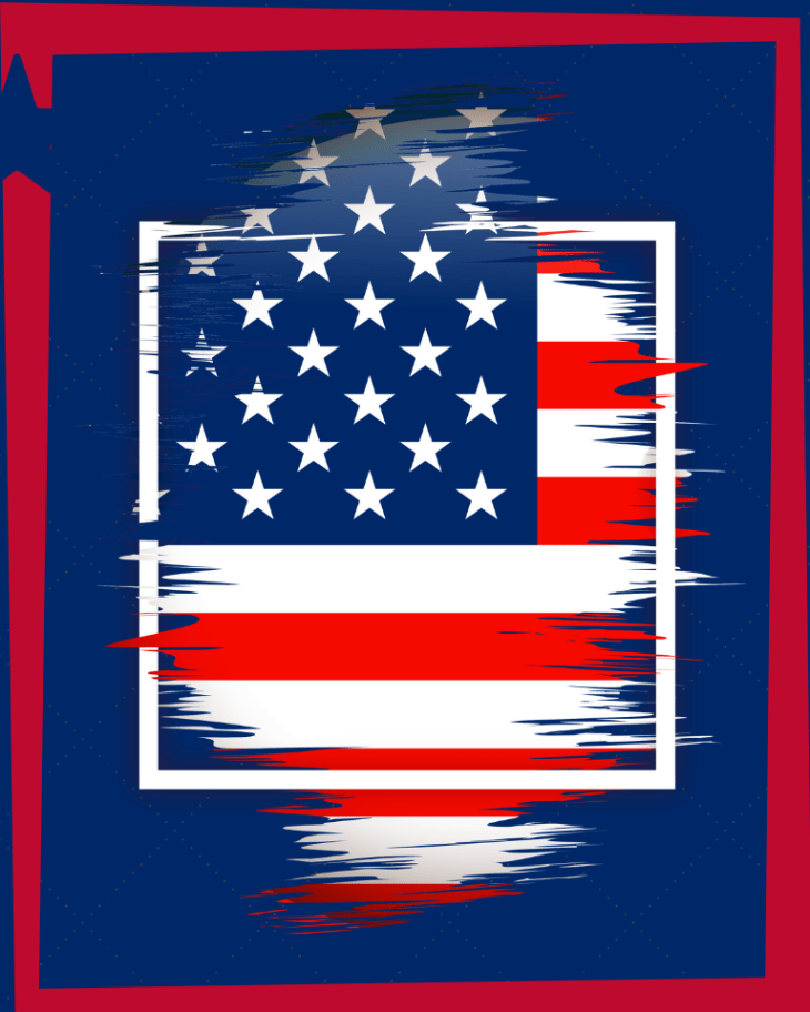 Fourth of July American Flag Printable
