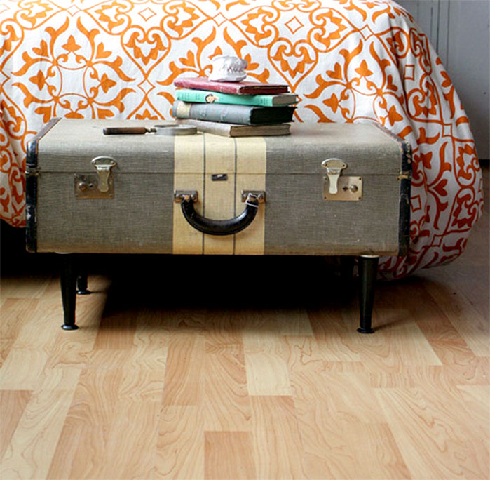 Vintage Suitcase Storage Bench