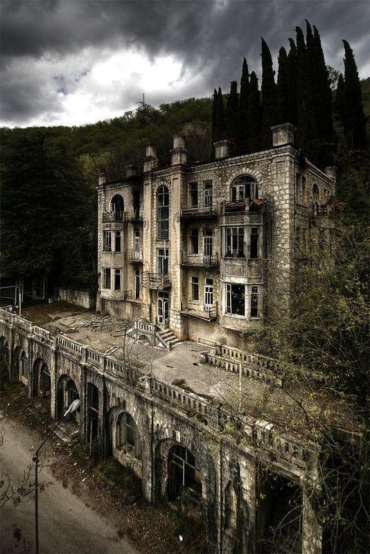 Abandoned Hotel Skala in Gagra