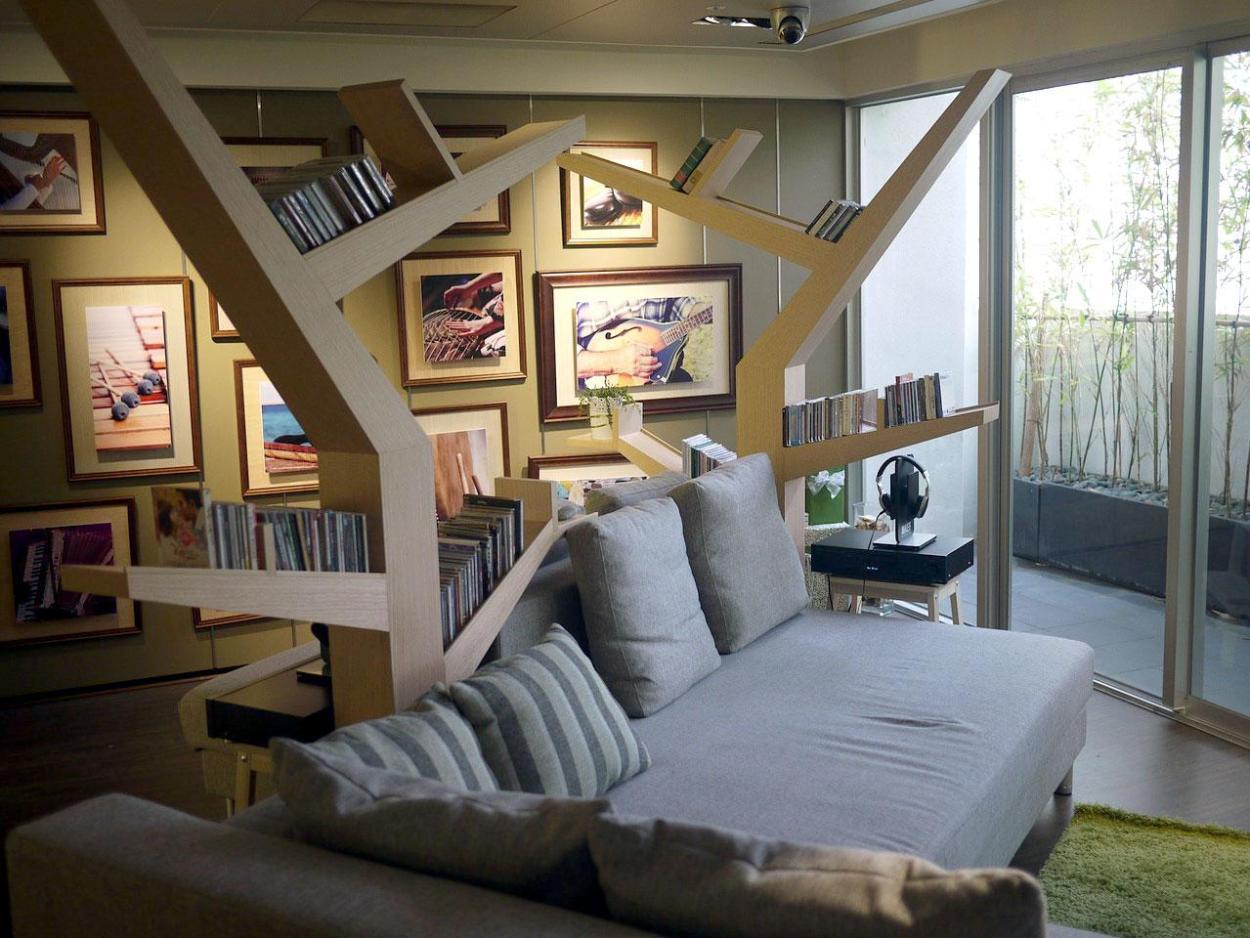 Artistic Branch Built In Book Shelves