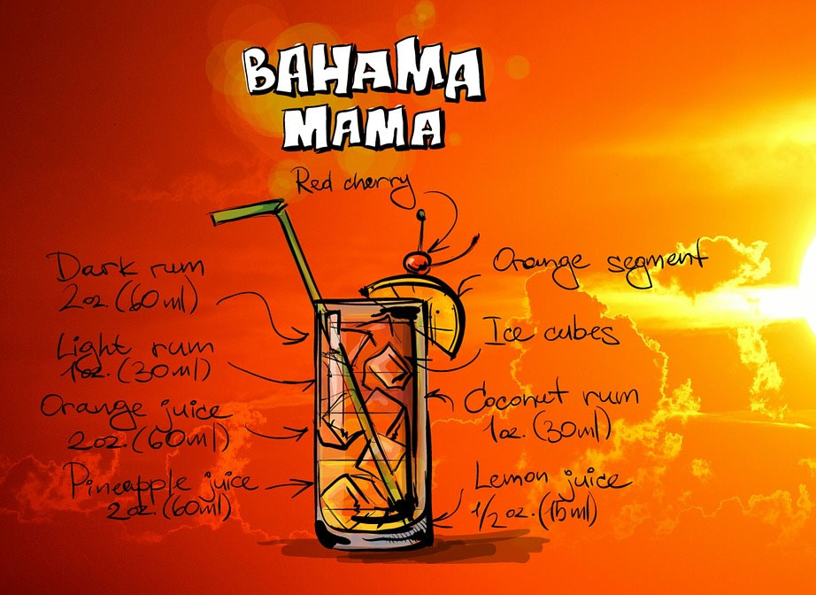 Bahama Mama Summer BBQ Cocktail