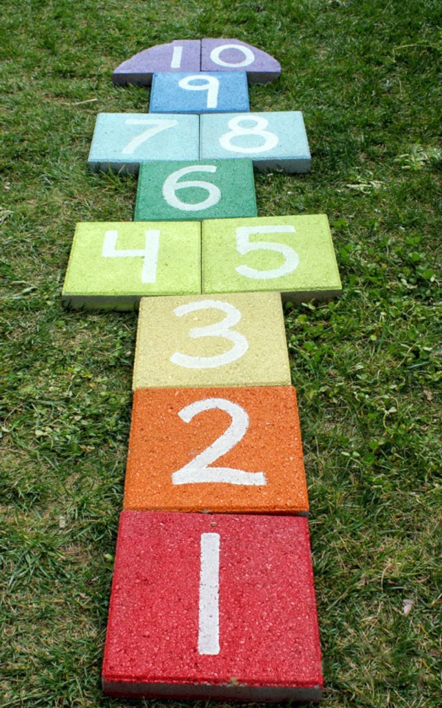 Colorful DIY Hopscotch