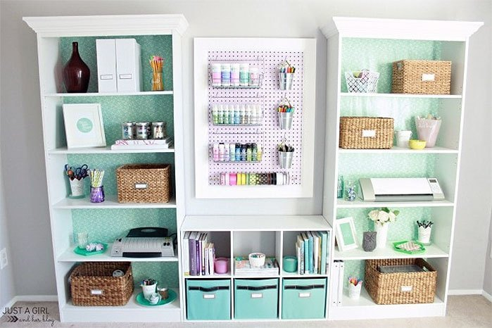DIY Craft Supplies Organizer with Pegboard