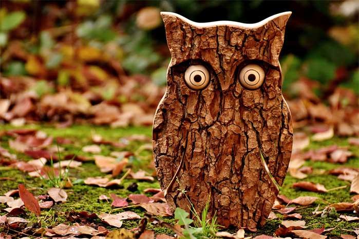 DIY Cut Bark Owl
