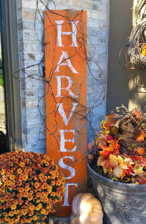 DIY Harvest Barnwood Sign