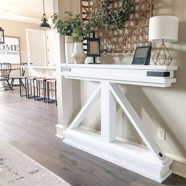 DIY Narrow Console Hall Table