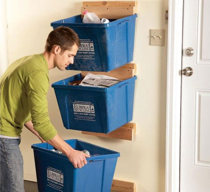 DIY Garage Hacks | Recycle Bin Hangers