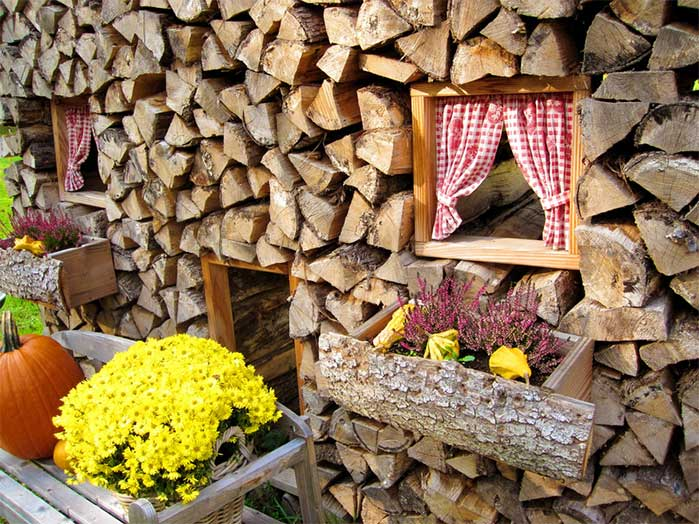 Decorative Wood Pile House