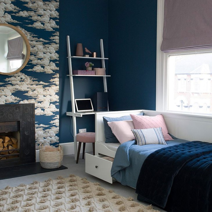 A Dreamy Blue Bedroom
