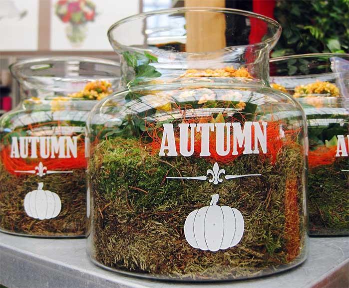 Fall Garden Jars