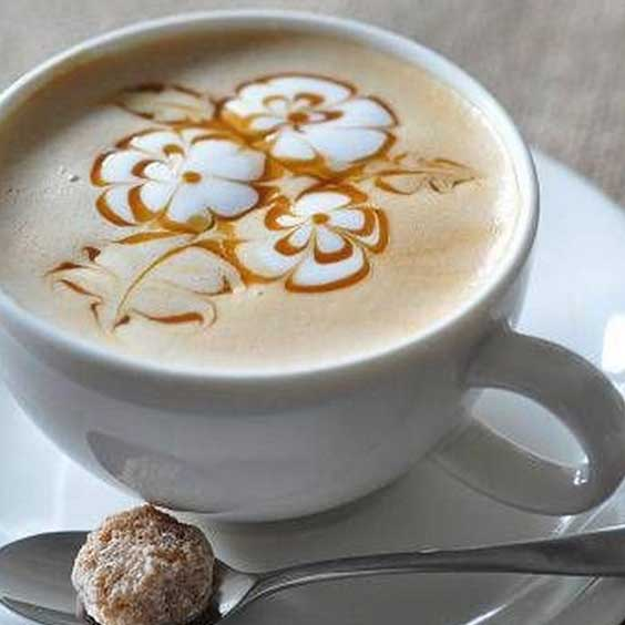 Flower Bouquet Latte Art