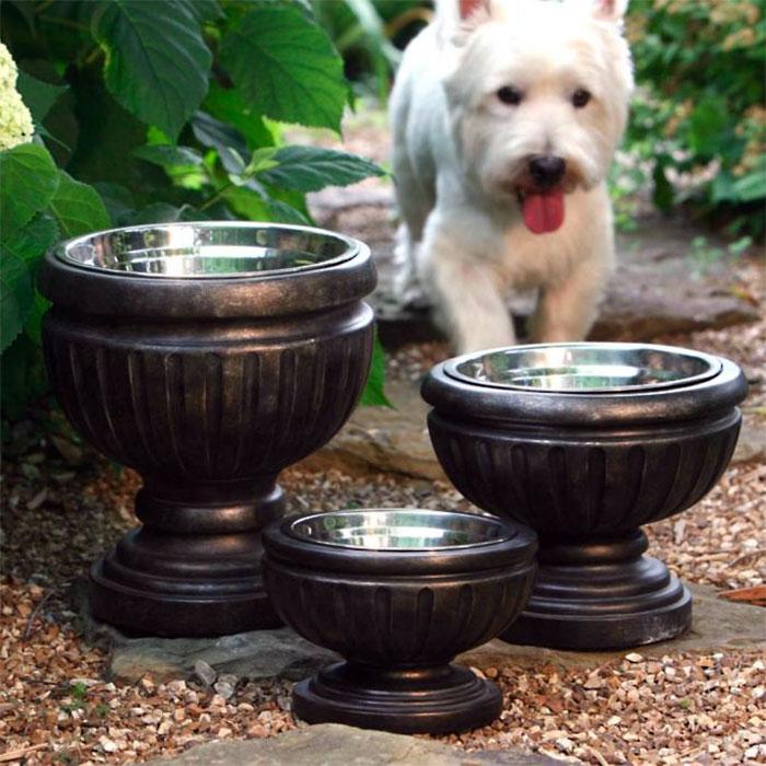 Garden Urn Dog Bowls
